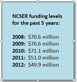 NCSER funding